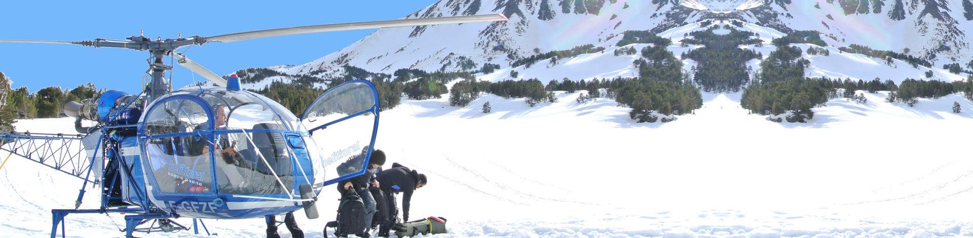 Baptême hélicoptère Perpignan 66 montagne