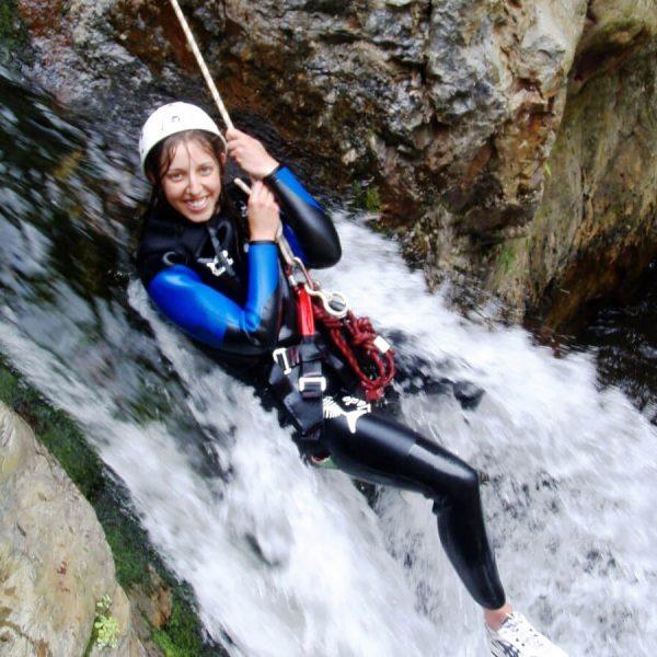 canyoning en eaux chaudes dans les Pyrénées-Orientales 66 Perpignan Marquixanes extérieur nature