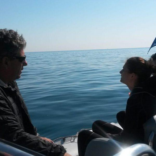 Baptême de plongée dans les P.O