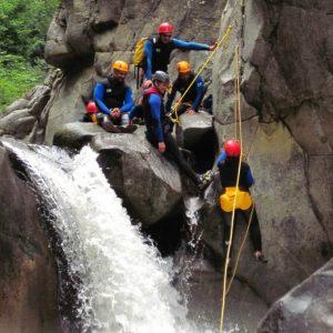 Canyoning sportif dans les Pyrénées Orientales